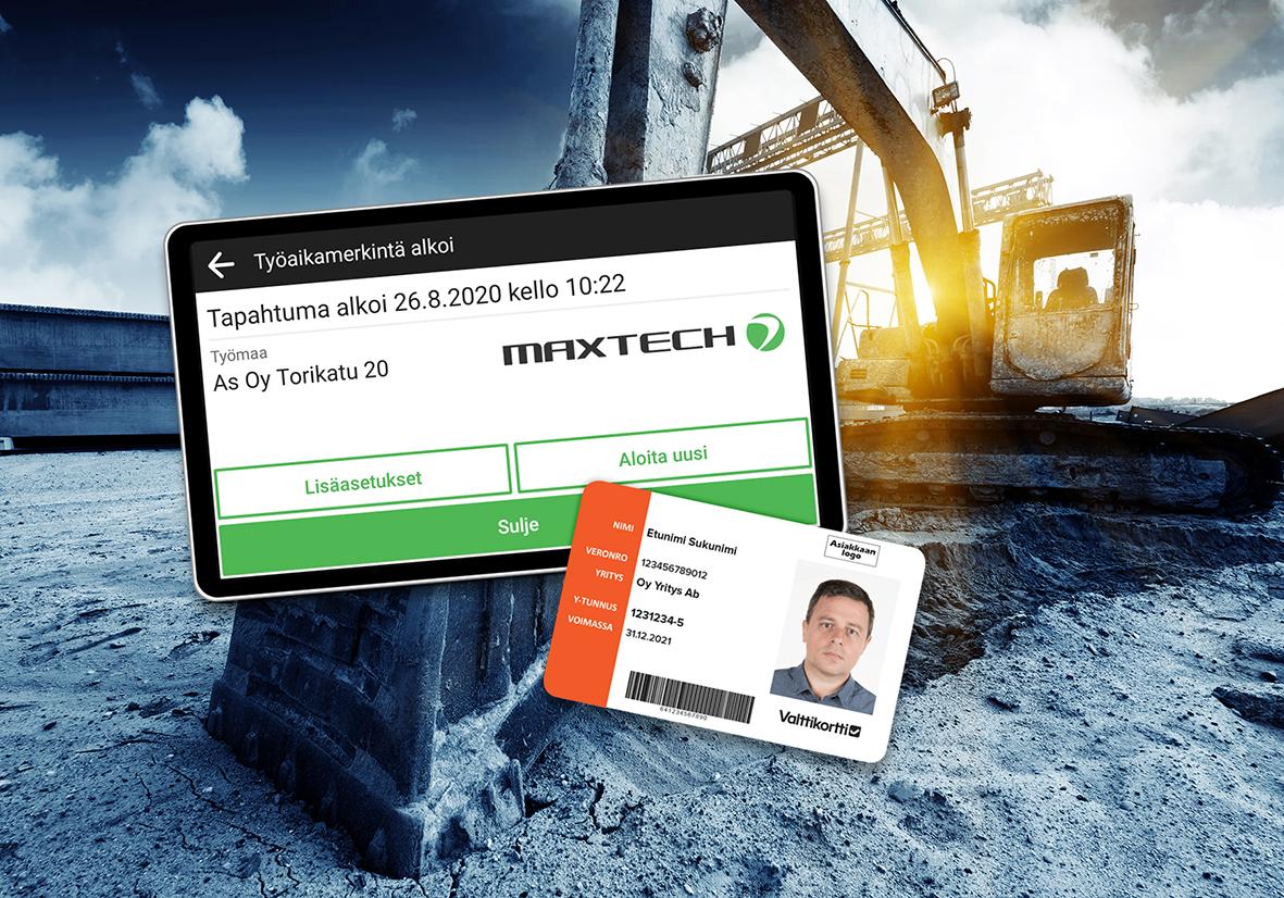 Valttikortti toimii käsi kädessä Maxtechin järjestelmän kanssa